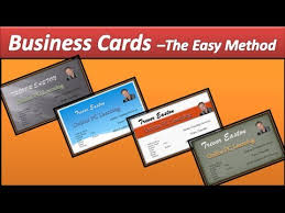 make business card in word business card template for powerpoint 2007 create print business