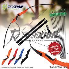 "<b>30 40 LBS Recurve Bow</b> 12 PCS Arrows 50"" <b>Archery</b> Kit Training ..."