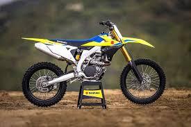 2018 suzuki motocross bikes. wonderful suzuki 2018 suzuki rmz450 motocross bike unveiled on suzuki bikes r