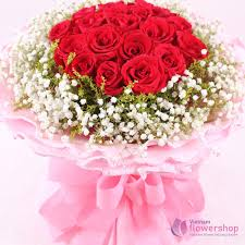 best red roses bouquet with love