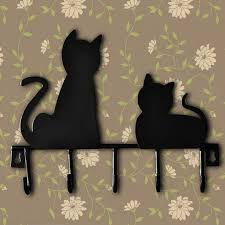 Cat Coat Rack Hot cat design Metal Iron robe wall hook with 100 hooks Wall Decor hat 37