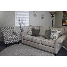 living room furniture sets accent chair sets club chair sets somette peyton high leg rolled arm striped beige sofa and eli metro grey track arm