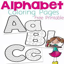 Small Picture Free Alphabet Coloring Pages