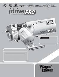 wayne dalton garage door opener manualWayneDalton IDRIVE PRO 3790  Corp Garage Door Opener User Manual