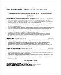Training Resume Examples Coordinator Samples Manager Corporate