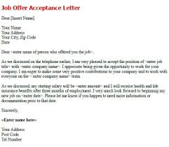 job offer salary accept a job offer email sample thank you letter for template