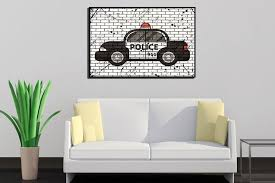 police poster police car wall art