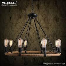american style rope chandelier vintage antique suspension lamp e27 edision bulb chandelier re living room restaurant hanging industrial pendant lighting