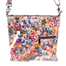 leather purse fl pansies messenger bag tap to expand