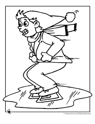 Small Picture Ice Skating Coloring Page Woo Jr Kids Activities