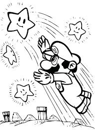 Mario Bros Printable Coloring Pages Super Mario Coloring Games