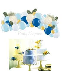baby boy balloon garland arch kit easy diy balloon arch boy 1st birthday party decoration blue gold garland no helium needed air pump
