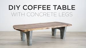 Image Patio Youtube Diy Coffee Table With Concrete Legs Youtube