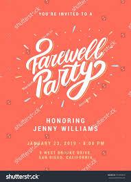 Farewell Invitation Template Farewell Party Invitation Template Free Best Business Template 7