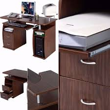 hideaway home office. fine office walnut computer pc desk work station monitor printer shelf home  hideaway office workstation on