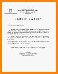 7 Certificate Of Employment Example Handyman Resume