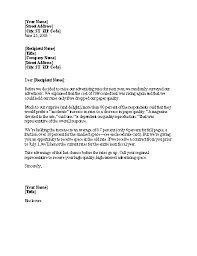 Sample Layoff Letter 5 Layoff Notice Letters Find Word Letters