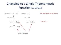 general solution changing to a single trigonometric function continued