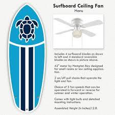 surf s up surf decor honu surfboard ceiling fan blade