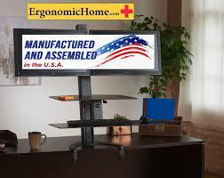 health postures taskmate go 6352 adjule sit stand desk mount large worksurface 15