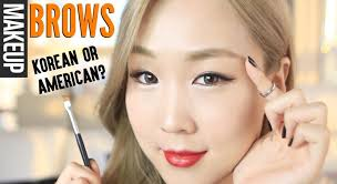 my updated brow routine straight korean or arched western style 미정이의