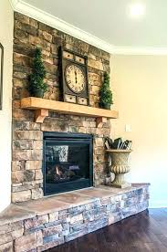 stacked stone fireplace ideas stacked stone fireplace