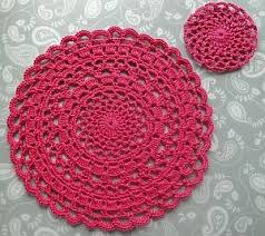 Free Crochet Placemat Patterns Interesting Lacy Crochet Placemat Free Pattern By Claire From Crochet Leaf