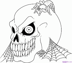 Small Picture Scary halloween coloring pages printables