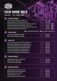 1 pg cooler master pg 1 brochures from the tech show 2019