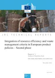 Integration of resource efficiency and waste management criteria ...