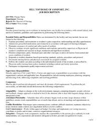 Director Of Nursing Job Description Director Of Nursing Job Description Resume Template Sample 16