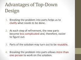 Top Down Design Advantages Chapter 6 Algorithm Development Ppt Download
