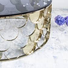 gatsby coffee table glass table goldboard brass art deco