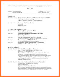 Chronological Resume Examples 2020 012 Cv Template Pharmacy Student Curriculum Vitae Pharmacist