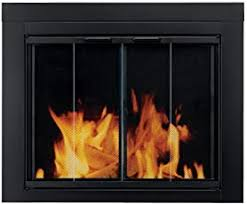 fireplace screens with doors. Pleasant Hearth AT-1001 Ascot Fireplace Glass Door, Black, Medium Screens With Doors L
