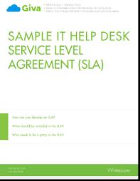 Example Of Best Customer Service Sample Slas For Help Desk Customer Service Best Practices