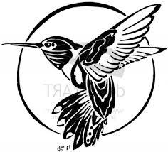tribal hummingbird tattoo drawing. Fine Hummingbird Black Flying Hummingbird Tattoo Stencil Drawing  Black Symbolism And Tribal Drawing B