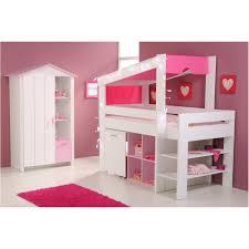 Kinderzimmer ~ Kinderzimmer Komplett Weiss Rosa Hochbett ...