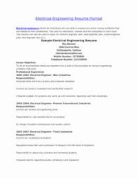 Electrical Engineering Resume Electrical Engineer Resume Word Format Elegant Lead Electrical 19