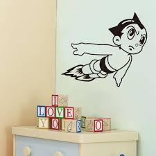 Vinyl Wall Art Stickers Astro Boy Cartoon Decals For Boys Room