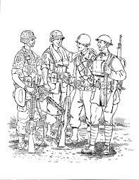 Small Picture Group of Army Man Coloring Pages Bulk Color
