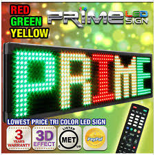 outdoor commercial signs 26mm tricolor 53 x19 programmable commercial outdoor led signage
