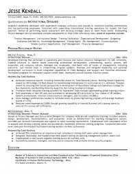 Instructional Designer Resume Instructional Design Resume For Job Of Your Berathen Com Jd 1