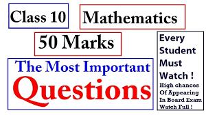 Class 10 Maths Important Questions 2019 I Class 10 Maths Cbse Board Exam 2019 I Part 1 Cbsenews