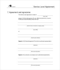 Service Level Agreement Template Magnificent Service Level Agreement Template 48 Free Word PDF Documents