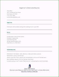 beginner acting resume sample beginner resume sample astonishing 35 fast beginner resume