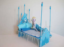 Build A Princess Bed How To Make A Elsa Doll Bed Tutorial Disney Frozen Youtube