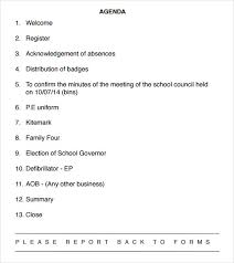 agenda of a meeting format sample school agenda 8 documents in pdf word