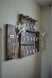 pallet wine glass rack. Wall Wine Rack Ideas Pallet Glass Mounted Diy