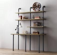 Impressive Inspiration Industrial Pipe Shelving Perfect Decoration Single  Desk